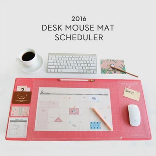 [2016 Desk Mouse Mat Scheduler] Desk Mat Pad Nonslip Pad Water Proof_Large