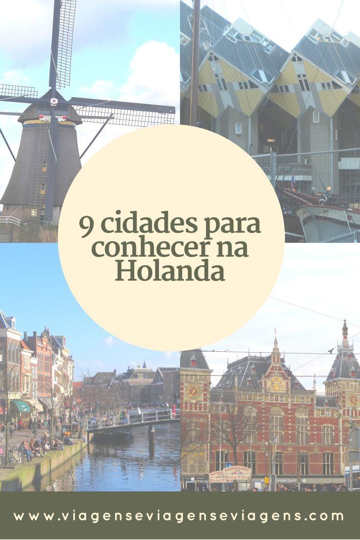 9 cidades para conhecer na Holanda  A Holanda é um país de grande riqueza cultural que merece ser mais explorado, tendo em vista que a grande maioria das pessoas resolve visitar somente Amsterdam. Segue abaixo algumas cidades lindas que você não deve deixar de incluir em uma visita ao país.
