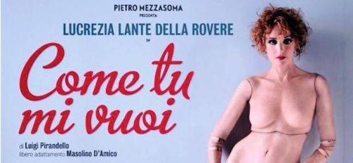 """Cinema Olbia: Giovedì """"Come tu mi Vuoi"""" di Luigi Pirandello"""