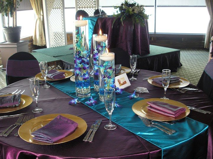 Peacock Feather Table Decorations | For Better For Less Wedding Flowers: Rusty Pelican Bridal Open House ...