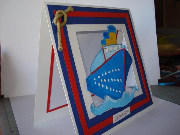 Handmade navy card