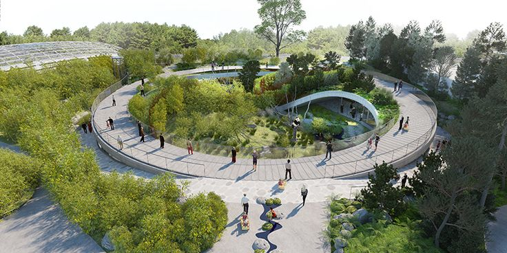 BIG plans yin and yang panda house for copenhagen zoo