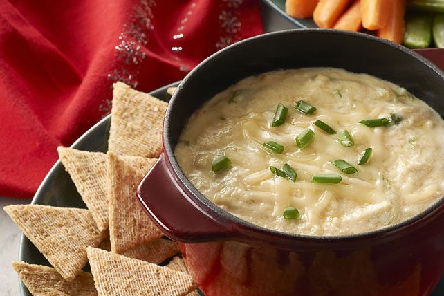 Dive into our crab dip - cream cheese, MIRACLE WHIP, shredded cheese, green onions and canned crabmeat are blended and baked into a savoury hot appetizer dip. Let's get dipping!