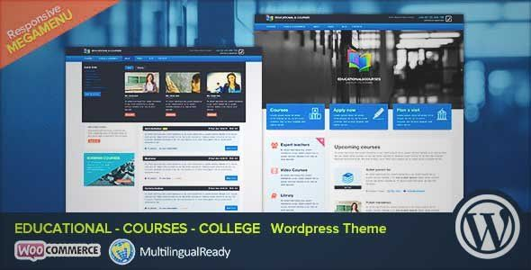 Download and review of EDU - Educational, Courses, College WP Theme, one of the best Themeforest Education themes