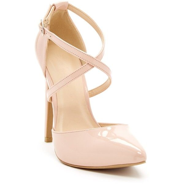 Legend Footwear Valerie Pump ($25) ❤ liked on Polyvore featuring shoes, pumps, nude, ankle strap pumps, nude high heel shoes, ankle strap high heel pumps, pointed-toe pumps and heels stilettos