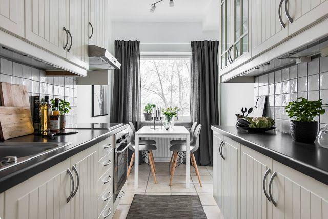 Blog wnętrzarski - design, nowoczesne projekty wnętrz: Skandynawska kuchnia: biel i szarość