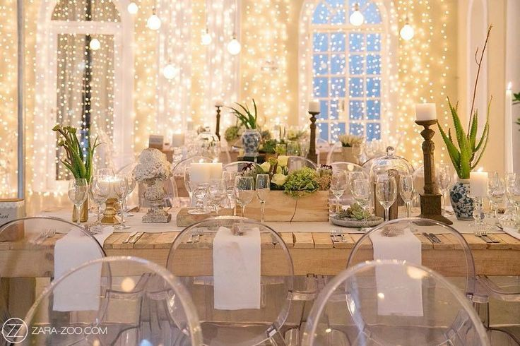 Our Naked Bulbs, Raw Tables, Ghost Chairs & Fairy Lights