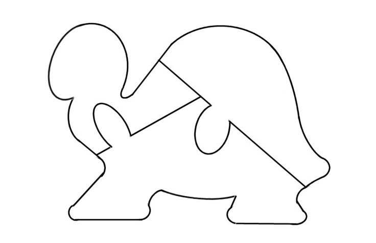 Turtle Puzzle Template - free to use