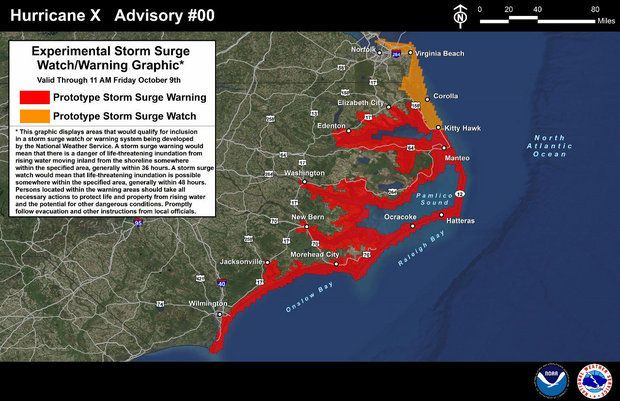 National Hurricane Center unveils new storm surge watch, warning maps