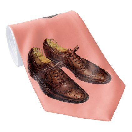 1950s mens wingtip shoes print neck tie - accessories accessory gift idea stylish unique custom