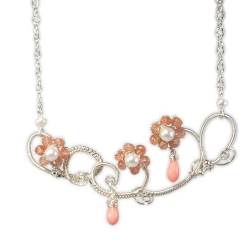 ELSIE Coral Vines necklace by Mademoiselle M #worldinbloom