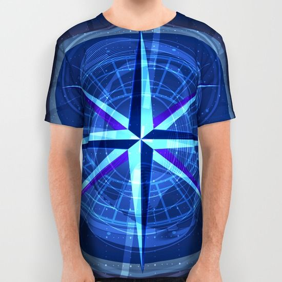 Moral Compass All Over Print Shirt by Helle Gade - $34.00 #art #digitalart