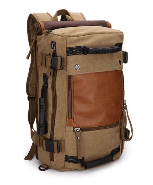 NEW Men's Vintage Canvas Bag Tote Bag Hiking Bag Camping Bag Mountaineering Bag in Clothing, Shoes & Accessories | eBay