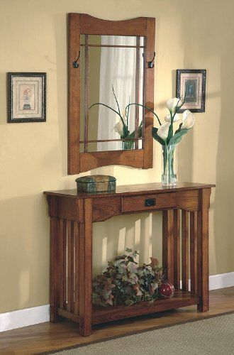 Mission style furniture for the foyer