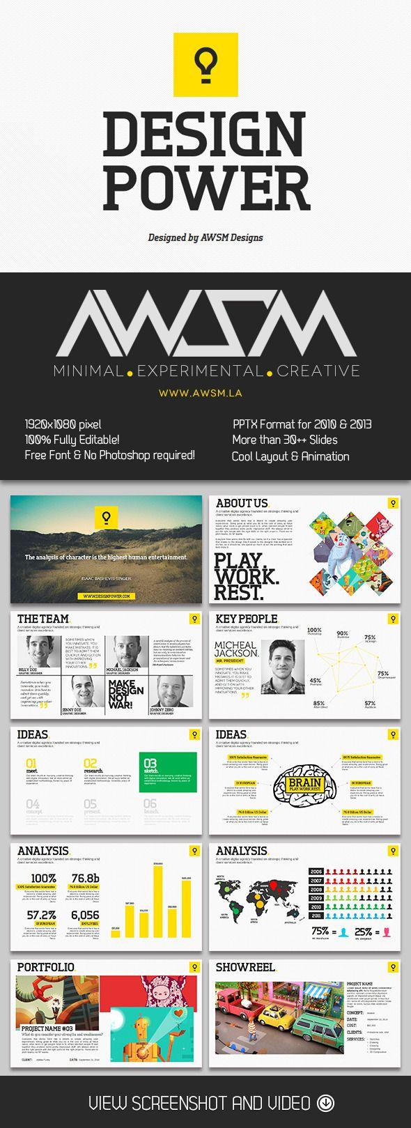 Design Power PowerPoint Template | Creative