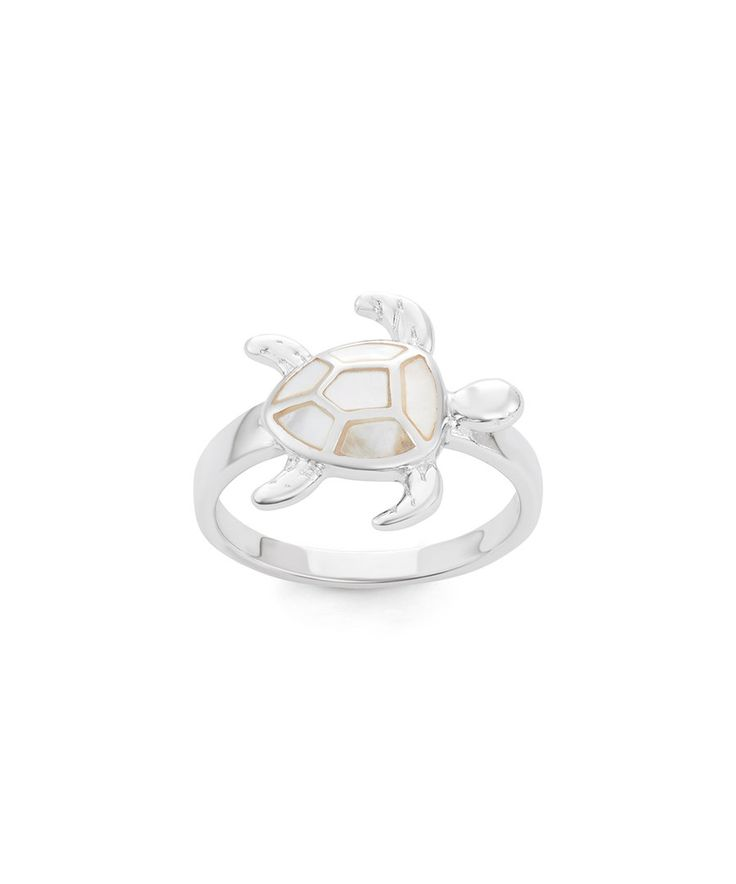 Look at this Mother-of-Pearl & Sterling Silver Turtle Ring on #zulily today!