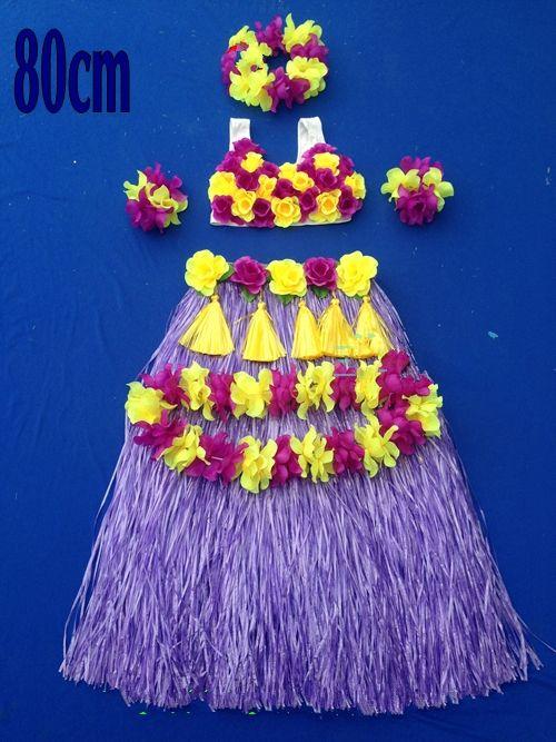 2016 Hawaiian Grass skirt hula show adult grass skirt suit children clothing dance clothing 40-80 cm
