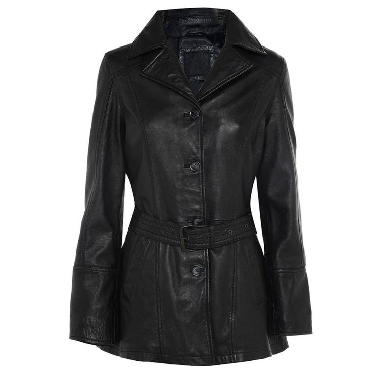 Barneys Black Label Women's Leather Single Breasted Mac Style Jacket http://www.il2l.com $120