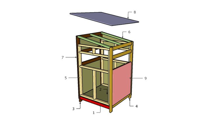 4x4 deer stand plans deer blind plans pinterest for Deer ground blind plans