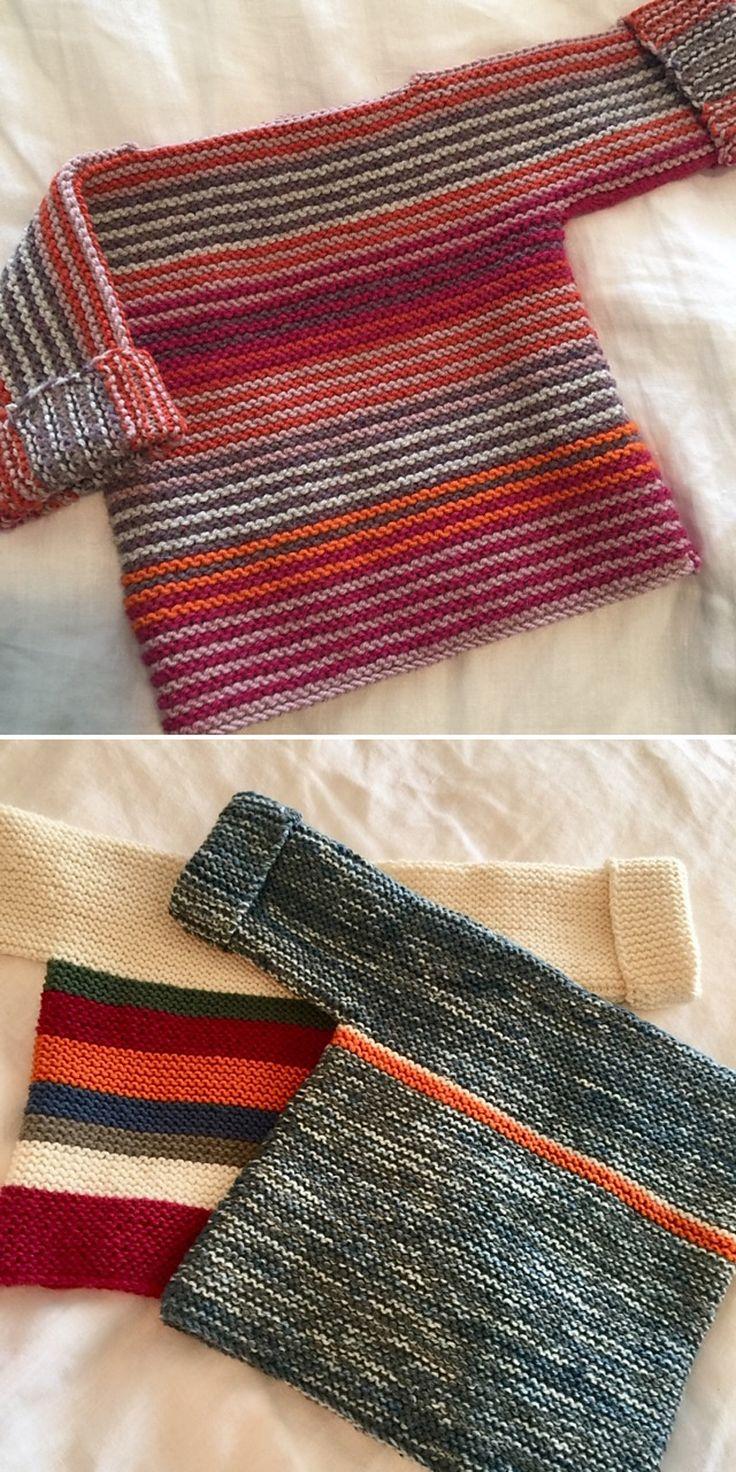 French Macaroon Baby Sweater – Free Knitting Pattern