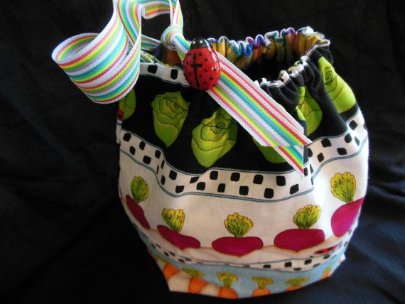A Vegetable Garden Project Bag for knitting or by 123carorose, $20.00