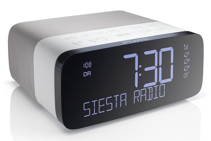 Pure Siesta Rise DAB Alarm Clock | This DAB clock radio has a huge list of stations for you to choose from, so there is something to satisfy every mood. | #DAB #Radio #Clock #SnoozeButton #SleepTimer #UK #myaudiosounddan | www.myaudiosound.co.uk |