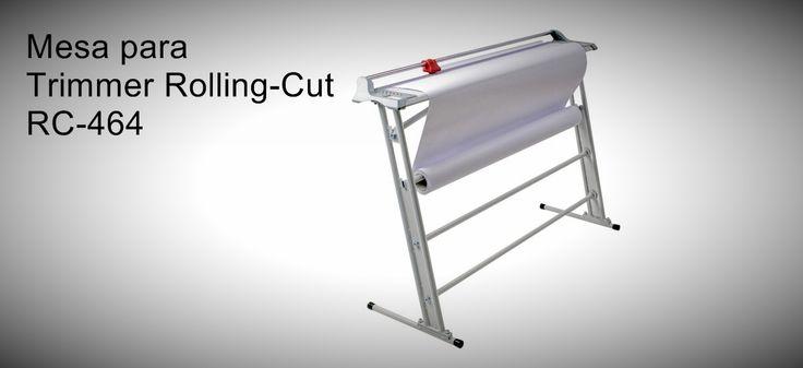 Mesa para Trimmer Rolling-Cut RC-960  Mesa resistente e que ocupa muito pouco espaço.   http://www.amakpost.com/guilhotinas.html?from=pinterest