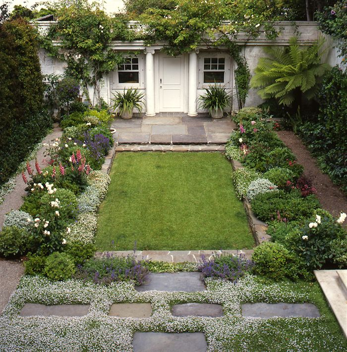 Elizabeth Everdell garden design - charming Pacific Heights, San Francisco backyard small garden