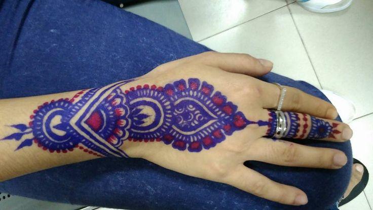 Henna Colored Tattoos colored henna tattoo designs latest mehandi ...