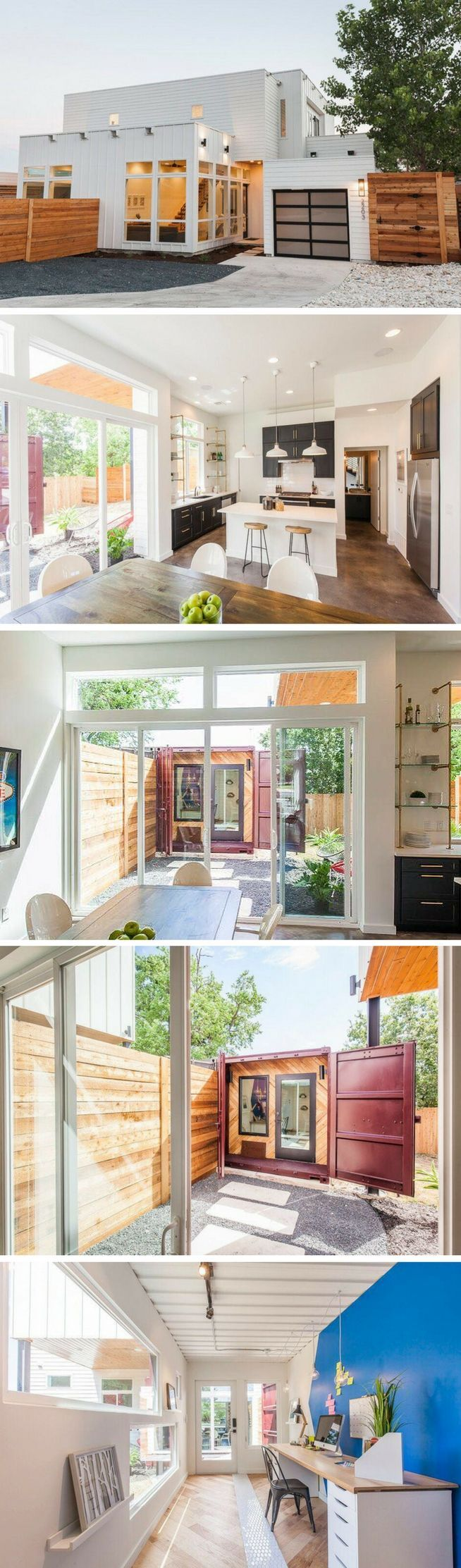 17 b sta id er om container hus p pinterest containerbost der och container hus - Most beautiful shipping container guest house ...