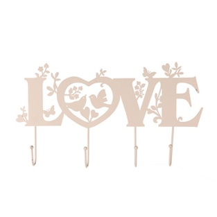 Whimsical Love Metal Hooks - Cream £7.45