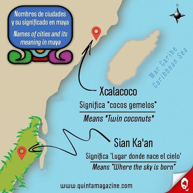 Nombres de las ciudades en la Riviera Maya y su significado en lengua maya: XCALACOCO • SIAN KA'AN 🌞 Names of the cities in the Riviera Maya and its meaning in maya language: XCALACOCO • SIAN KA'AN ☀💦🌴👙🐠🇲🇽 #infografía #infographic #ciudades #cities #nombres #names #maya #language #paraíso #paradise #caribe #caribbean #cultura #culture #informacion #information #interesante #interesting #mapa #map #quintamagazine #xcalacoco #siankaan #rivieramaya #mexico