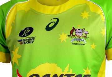 Australia Rugby Sevens 2016 Asics Home and Away Jerseys
