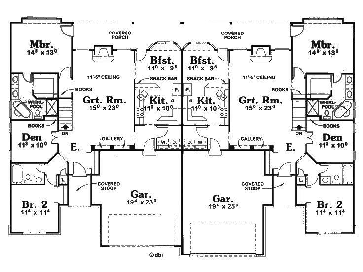Best 25 duplex floor plans ideas on pinterest duplex for Cool house plans duplex