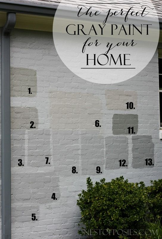 Finding The Perfect Gray Paint For Your Home. Real Life Tale Of Trials U0026  Errors. Painting BrickPainted BricksPainted Brick ExteriorsExterior ...
