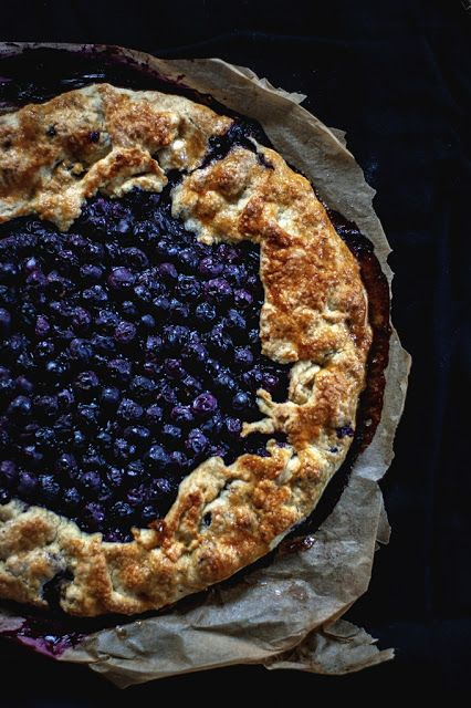 Galette with blueberries - Use Google to translate recipe from Polish to English!
