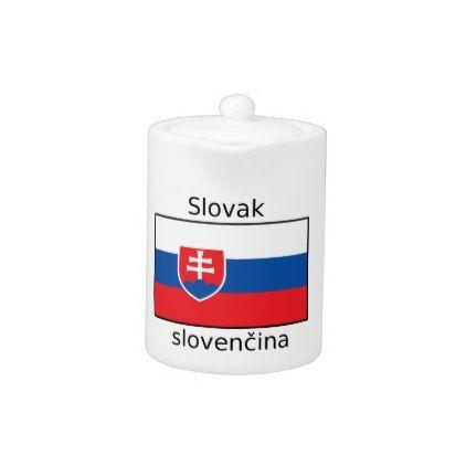 Slovak Language And Slovakia Flag Design Teapot - decor gifts diy home & living cyo giftidea