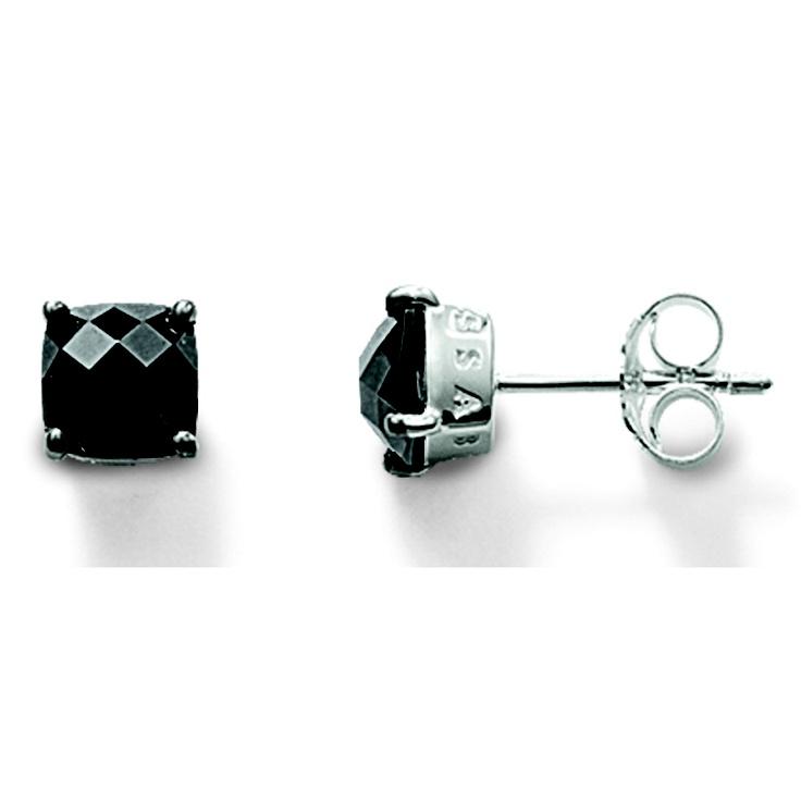 Thomas Sabo Black Square Stud Earrings. $199.