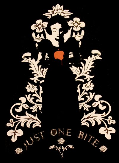 Snow White! Check for a series of posters with traditional characters done a little darker.