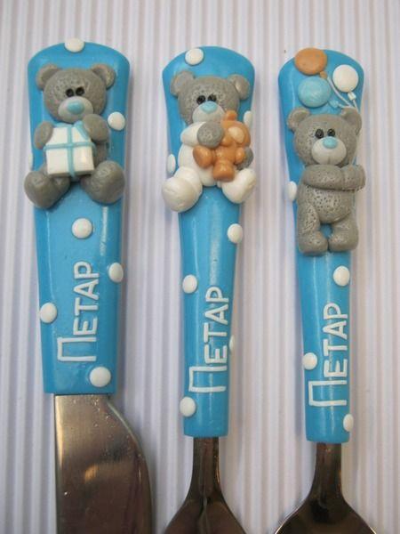 Children Flatware Set Children Cutlery Gift Baby from Cutlery design JS by DaWanda.com