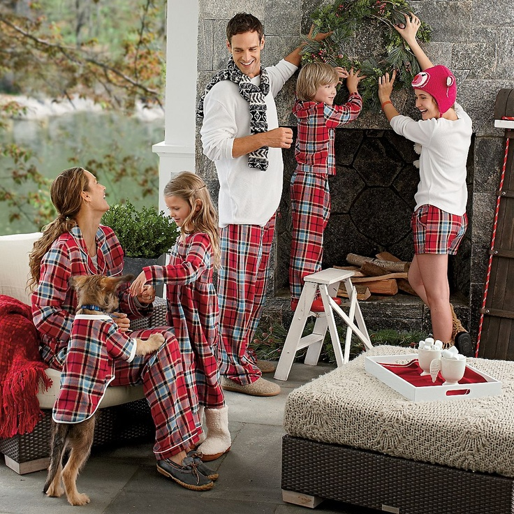 As corny as it sounds and looks, my family will all wear matching pjs someday...