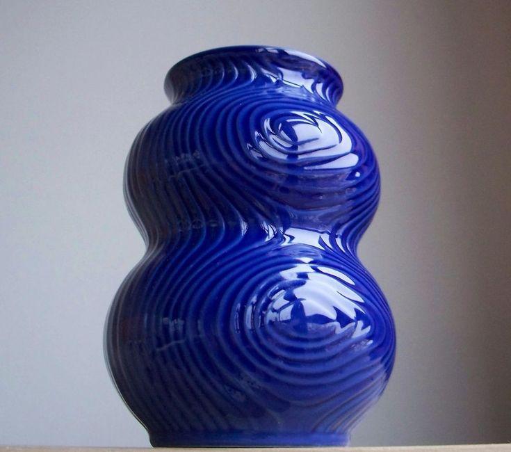 Vintage 1960s-1970s German HUTSCHENREUTHER TIRSCHENREUTH Porcelain Fossil Vase