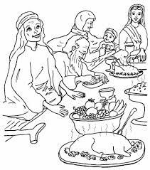 Matthew 22:1-14; Parable of the Wedding Feast Coloring Page