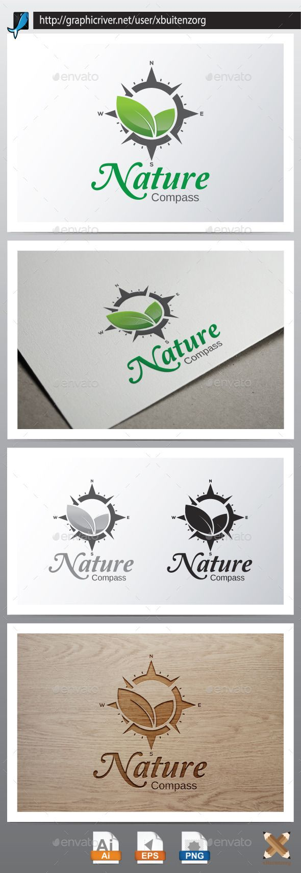 Nature Compass — Vector EPS #tourist #adventure • Available here → https://graphicriver.net/item/nature-compass/10160460?ref=pxcr