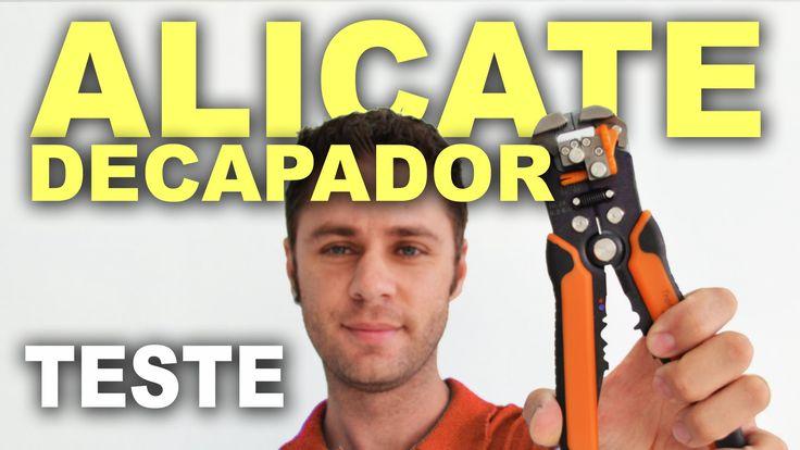 Alicate decapador de fios - Teste e utilização!