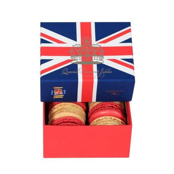 Limited Edition Laduree macaroons to toast the queen!: Tasty Recipe, Diamond Jubilee, Diamonds, Queens, The Queen, Limited Edition Macarons, Queen S Diamond, Union Jack