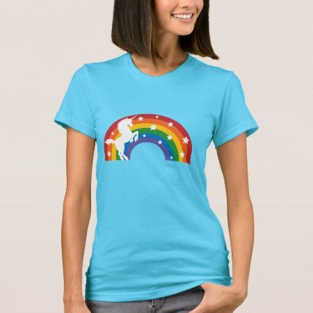 Retro Rainbow Unicorn T-Shirt - tap, personalize, buy right now!