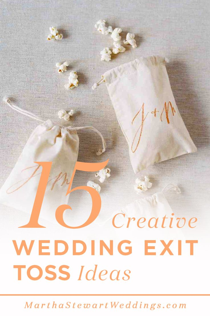 15 creative wedding exit toss ideas