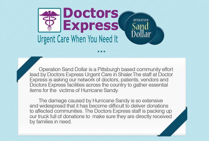 Doctors Express Shaler Operation Sand Dollar Hurricane