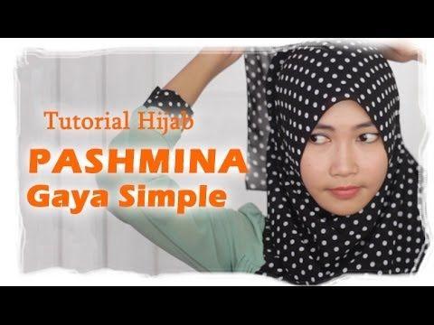 Tutorial Hijab Pashmina Simple - YouTube
